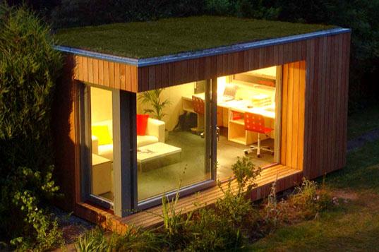 Modern Backyard Studio : Top to Bottom Modern Shed, Modern Cabana)